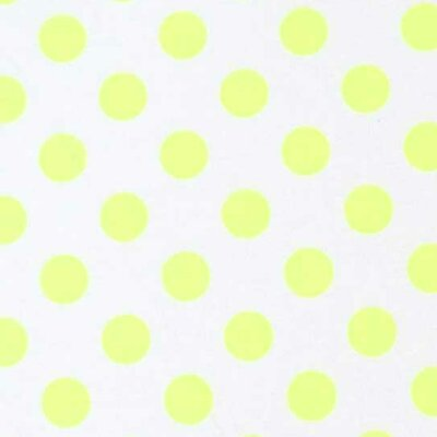 Neon Polka Dots Fabric By The Yard Color: Yellow
