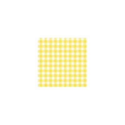 Primary Gingham Woven Fabric By The Yard Color: Yellow