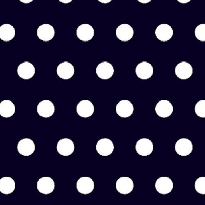 Polka Dots Fabric By The Yard Color: Navy