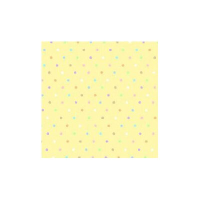 Pastel Pindots Woven Fabric By The Yard Color: Yellow