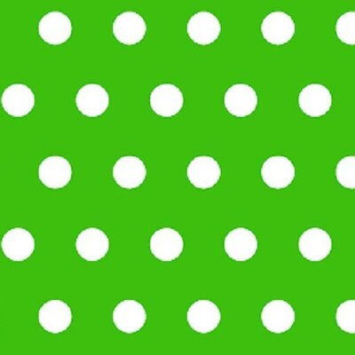 Polka Dots Fabric By The Yard Color: Green