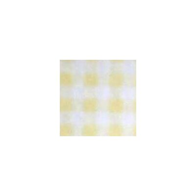 Gingham Jersey Fabric By The Yard Color: Yellow