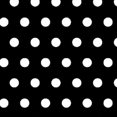 Polka Dots Fabric By The Yard Color: Black