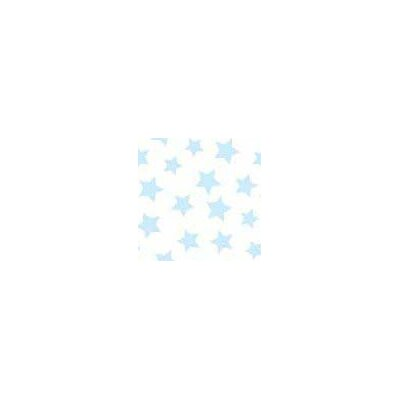 Pastel Stars Woven Fabric By The Yard Color: Blue