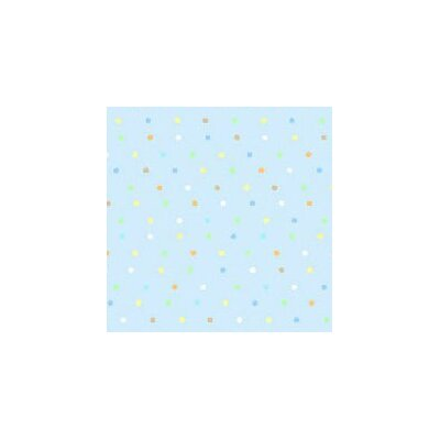 Pastel Pindots Woven Fabric By The Yard Color: Blue