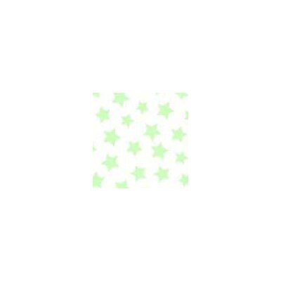 Pastel Stars Woven Fabric By The Yard Color: Green