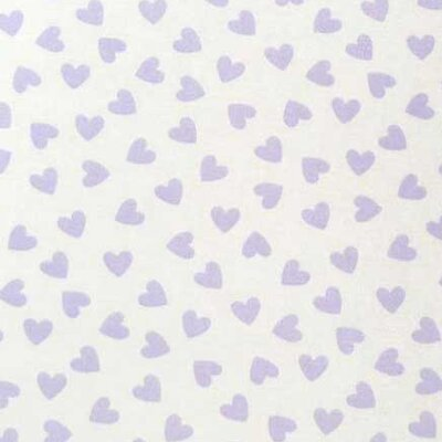 Pastel Hearts Woven Fabric By The Yard