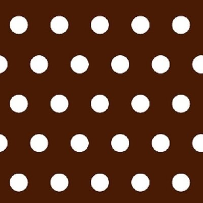 Polka Dots Fabric By The Yard Color: Brown