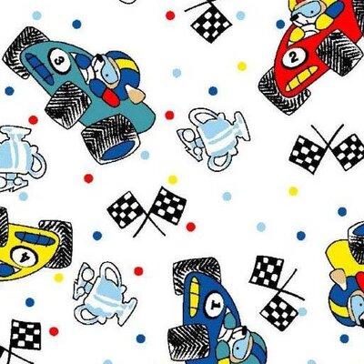 Fun Race Cars Fabric By The Yard