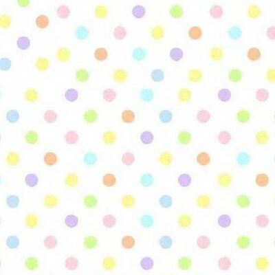 Pastel Polka Dots Fabric By The Yard