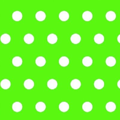 Polka Dots Fabric By The Yard Color: Lime