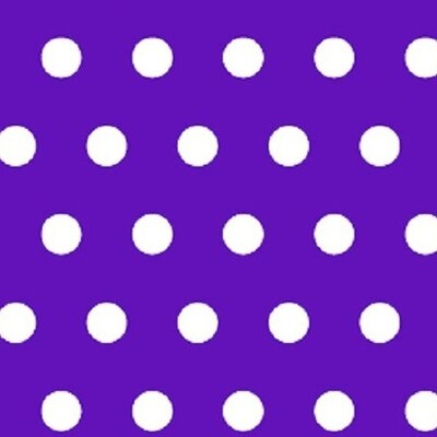 Polka Dots Fabric By The Yard Color: Purple