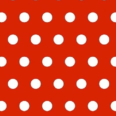 Polka Dots Fabric By The Yard Color: Red