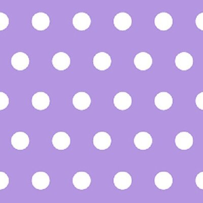 Polka Dots Fabric By The Yard Color: Lavender