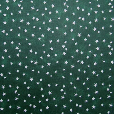 Cloudy Stars Fabric By The Yard Color: Hunter Green