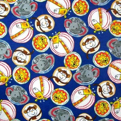 Safari Animal Circles Fabric By The Yard