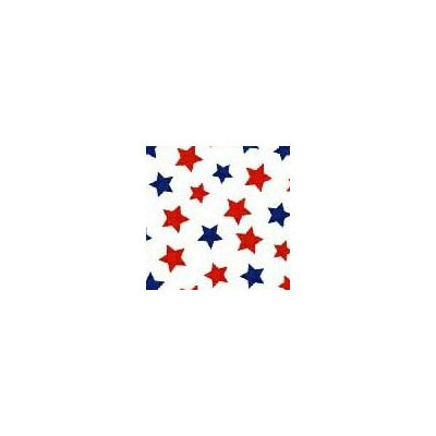 Pastel Stars Woven Fabric By The Yard Color: Red/Blue