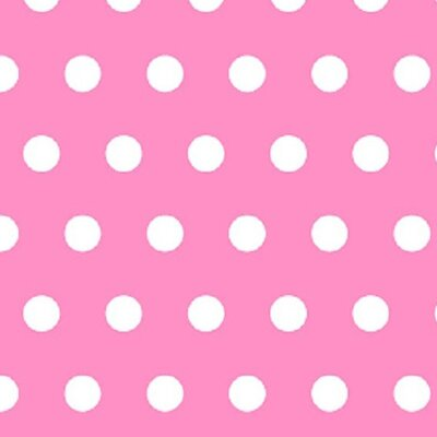 Polka Dots Fabric By The Yard Color: Pink