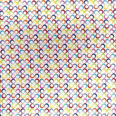 Primary Rings Woven Fabric By The Yard