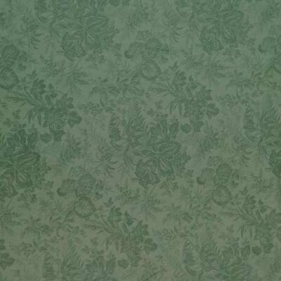 Floral Forest Fabric By The Yard Color: Green