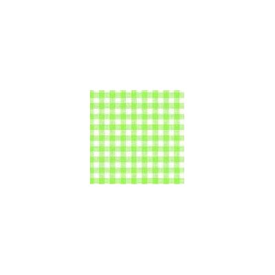 Primary Gingham Woven Fabric By The Yard Color: Green