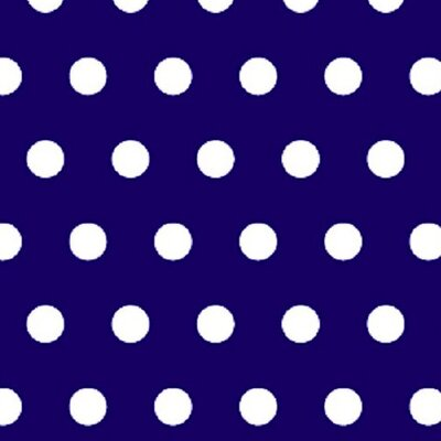 Polka Dots Fabric By The Yard Color: Royal