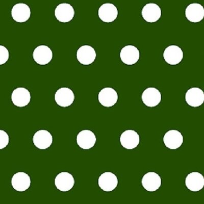 Polka Dots Fabric By The Yard Color: Hunter Green