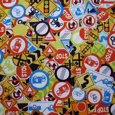 Traffic Signs Fabric By The Yard