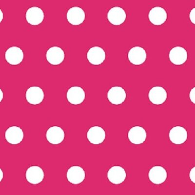 Polka Dots Fabric By The Yard Color: Hot Pink