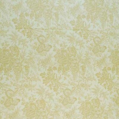 Floral Forest Fabric By The Yard Color: Cream