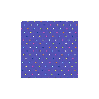 Primary Pindots Woven Fabric By The Yard Color: Purple