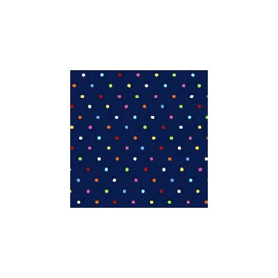 Primary Pindots Woven Fabric By The Yard Color: Navy