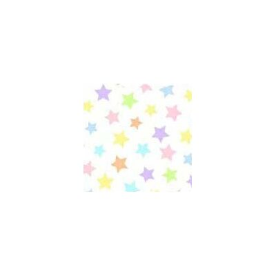 Pastel Stars Woven Fabric By The Yard Color: Multi