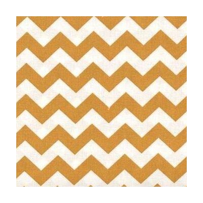 Chevron Zigzag Fabric By The Yard Color: Gold