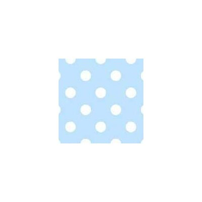 Pastel Polka Dots Woven Fabric By The Yard Color: Blue