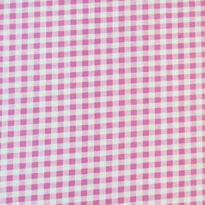 Gingham Check Fabric By The Yard Color: Pink Royal