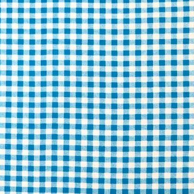 Gingham Check Fabric By The Yard Color: Turquoise