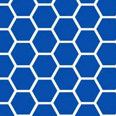 Honeycomb Fabric By The Yard Color: Royal Blue