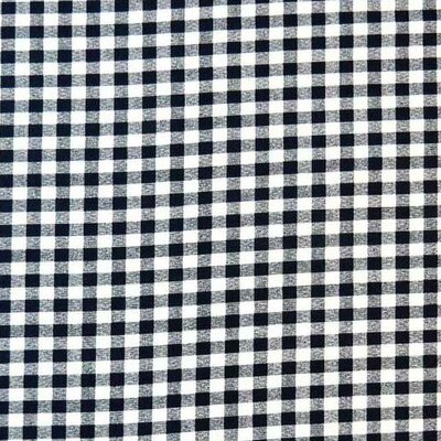 Gingham Check Fabric By The Yard Color: Navy