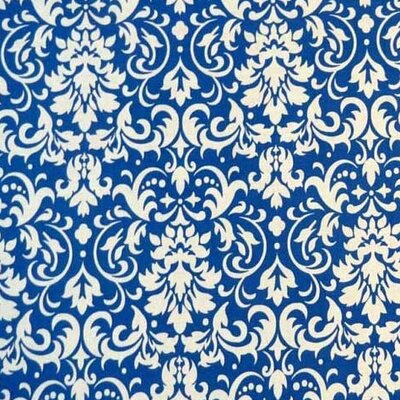 Damask Fabric By The Yard Color: Royal