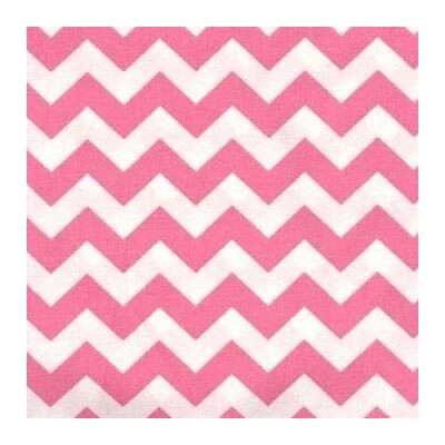 Chevron Zigzag Fabric By The Yard Color: Bubble Gum Pink