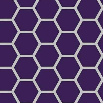 Honeycomb Fabric By The Yard Color: Purple
