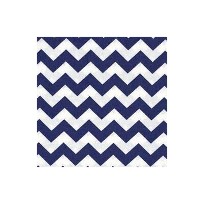 Chevron Zigzag Fabric By The Yard Color: Royal Blue