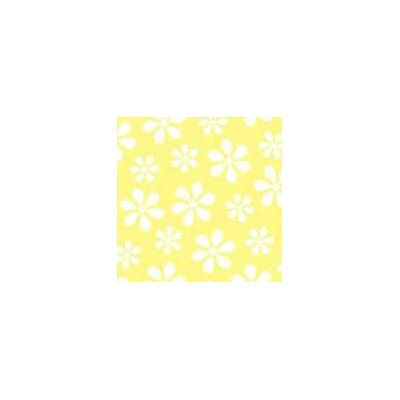 Pastel Floral Woven Fabric By The Yard Color: Yellow