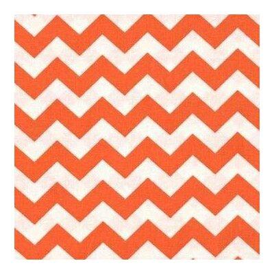 Chevron Zigzag Fabric By The Yard Color: Orange