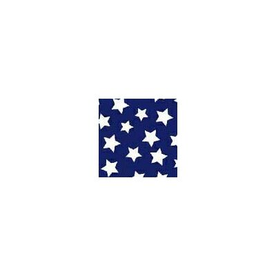 Primary Stars on Woven Fabric By The Yard Color: Navy