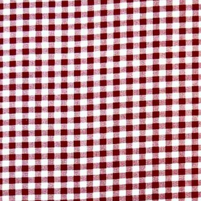 Gingham Check Fabric By The Yard Color: Burgundy