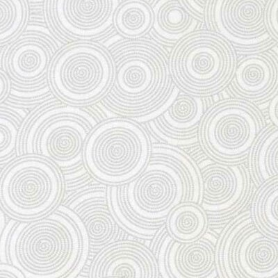 Multi Circles Fabric By The Yard Color: Gray