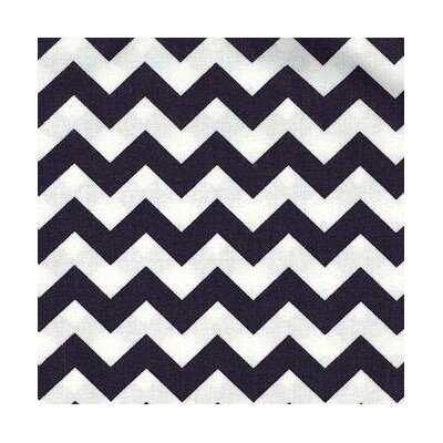 Chevron Zigzag Fabric By The Yard Color: Navy