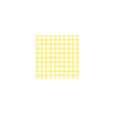 Pastel Gingham Woven Fabric By The Yard Color: Yellow